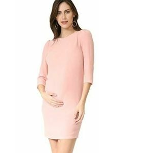Rosie Pope Dress S Maternity Pink Cammie Blush Bow
